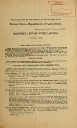 Monthly list of publications