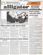 """Asian group ridiculed with racial slurs."" November 27, 1996."