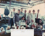 Chesterfield Smith with Lawton Chiles (wearing check shirt, front of table) and others at lunch, c.1980s