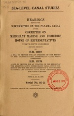 Sea-level canal studies