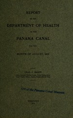 Report of the Department of Health of the Panama Canal