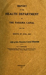 Report of the Health Department of the Panama Canal