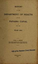 Report of the Department of Health of the Panama Canal for the year ..