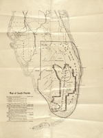 Map of South Florida showing Everglades and lands taxed