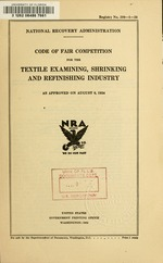 Code of fair competition for the textile examining, shrinking and refinishing industry