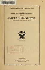 Code of fair competition for the sample card industry