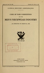 Code of fair competition for the men's neckwear industry