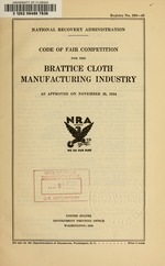 Code of fair competition for the brattice cloth manufacturing industry