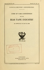 Code of fair competition for the bias tape industry