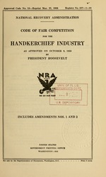 Code of fair competition for the handkerchief industry