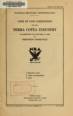 Code of fair competition for the terra cotta industry