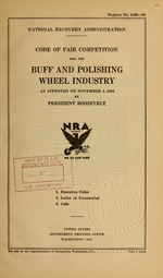 Code of fair competition for the buff and polishing wheel industry