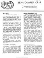 Bean/Cowpea CRSP communiqué