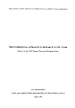 The Ecoregional Approach to Research in the CGIAR - Report of the TAC