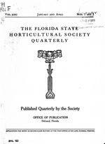 The Florida State Horticultural Society quarterly