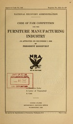Code of fair competition for the furniture manufacturing industry