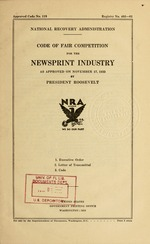 Code of fair competition for the newsprint industry