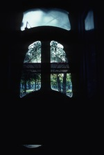 View through window from interior room
