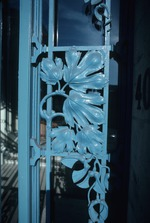 Close view of wrought iron design