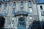 Exterior door and façade of Chamber of Commerce building