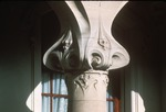 Close view of column on building