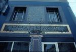 Sign on Pharmacie building