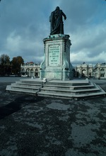 View of the bronze statue of Louis XV at Place Stanislas