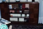 Interior room with bookshelf