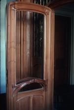 Wooden door with glass