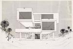 Goodloe Residence (William N. Morgan, FAIA) - Elevation presentation drawing