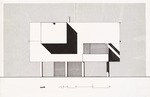Goodloe Residence (William N. Morgan, FAIA) - South Elevation presentatin drawing