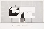 Goodloe Residence (William N. Morgan, FAIA) - West Elevation presentation drawing