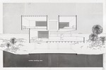 Goodloe Residence (William N. Morgan, FAIA) - Section looking East presentation drawing
