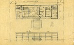 Dickinson Residence (William N. Morgan, FAIA) - Floor plan sketch on trace paper-Graphite