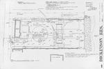 Dickinson Residence (William N. Morgan, FAIA) - Site Plan & Foundation Plan; graphite on vellum