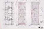 Dickinson Residence (William N. Morgan, FAIA) - Second Floor Plan; Second Floor and Roof Framing Plan; graphite on vellum