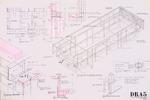 Dickinson Residence (William N. Morgan, FAIA) - Column-Beam Framing Diagram; graphite on vellum