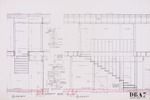 Dickinson Residence (William N. Morgan, FAIA) - Stair Sections; graphite on vellum