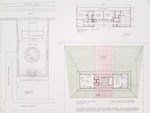 Dickinson Residence (William N. Morgan, FAIA) - Proposed Residence for M/M Dickinson Scheme 1; graphite on vellum