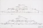 Thomas House (Hilltop House) by William N. Morgan, FAIA - Building Sections; Graphite on vellum