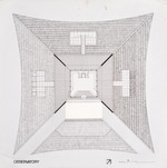 Thomas House (Hilltop House) by William N. Morgan, FAIA - Presentation rendering of observatory; Ink on vellum