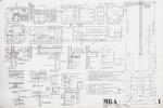 General Notes, Kitchen Details; Graphite on vellum