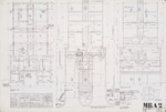 Floor plans, Foundation plans; Graphite on vellum