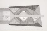 Garden plan presentation drawing; Ink on vellum [Rendered by Linda L. Mack, 1974]