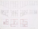 Floor plans and sections; Graphite on vellum