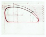 Measured section sketch; colored pencil on vellum