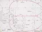 Upper level floor plan; graphite on vellum