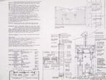 Interior details; mechanical and electrical general notes; finish schedule; hardware schedule;  graphite on vellum