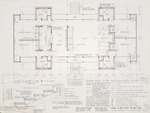 Construction Document: Main floor plan; Graphite on vellum