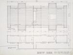Construction Document: Longitudinal section; Graphite on vellum
